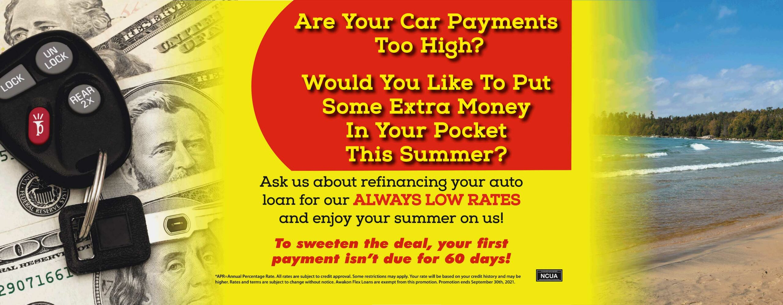 Ask us about refinancing your auto!