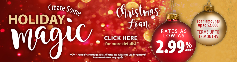 Holiday loan rates banner image