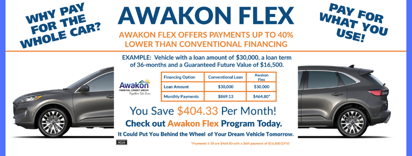 Call 989-733-8557 and ask about an Awakon Flex loan! Why buy the whole car!?