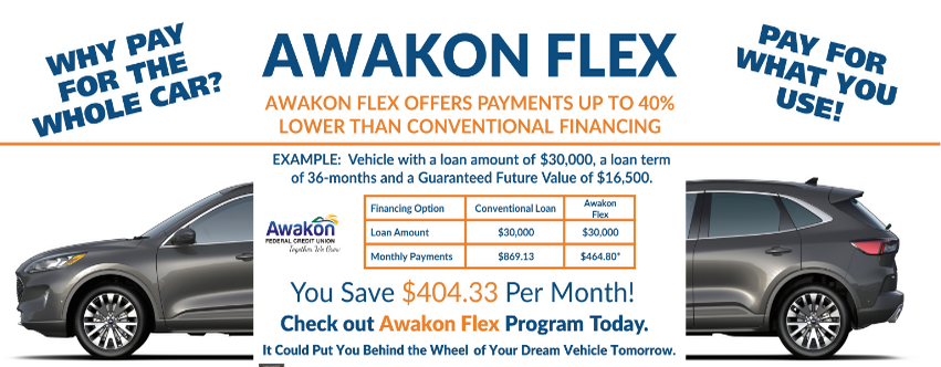 Awakon Flex Auto Loan Ad