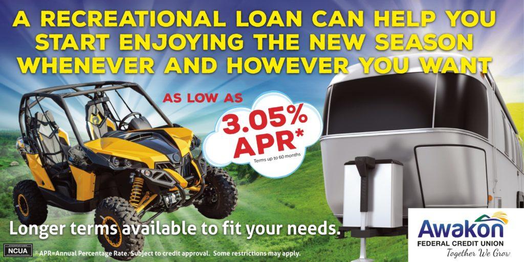 RV Loan Special as low as 3.05% APR