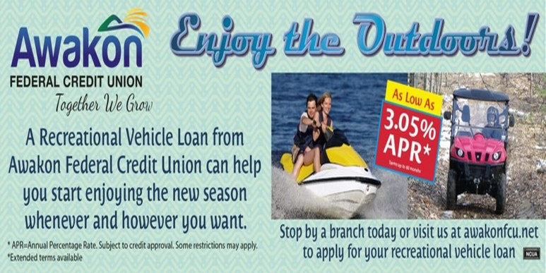 RV Auto Loan advertisement