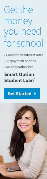 Get the money you need for school.  Smart Option Student Loan from Sallie Mae
